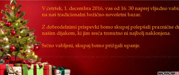 Božično-novoletni bazar, 1. december 2016