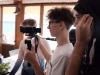 Filmska ekipa v Piranu, marec 2020